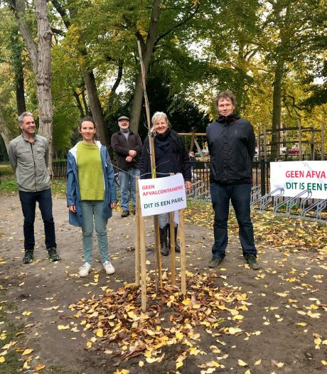Buurt plant boom als protest tegen komst afvalcontainers in monumentaal Zocherpark