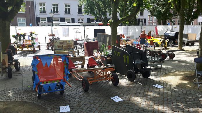 Een deel van het 'karretjespark' op de Parade