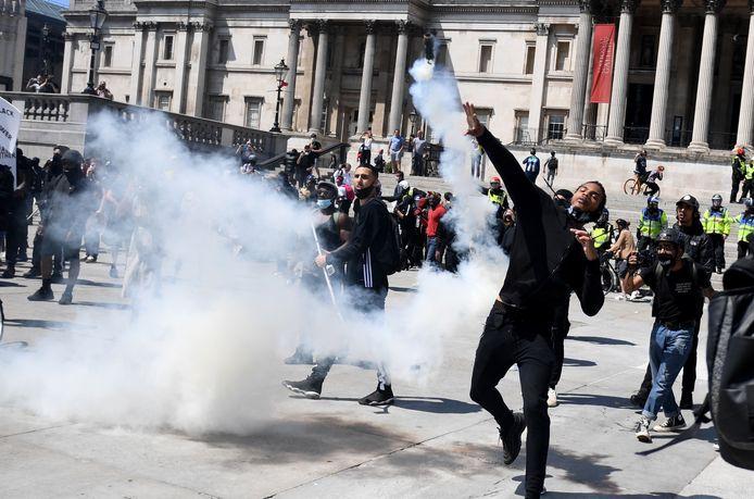 Er wordt onder meer gedemonstreerd op Trafalgar Square.