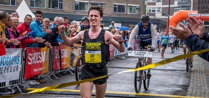De winnaar van de Marathon Tilburg, Jop van der Steen.