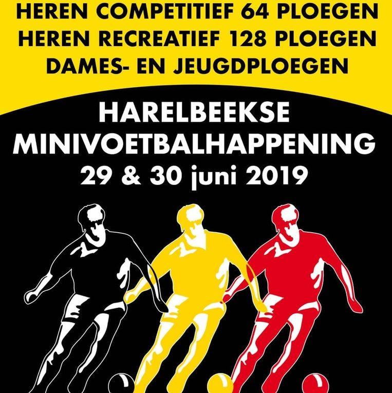 De affiche van de minivoetbalhappening.