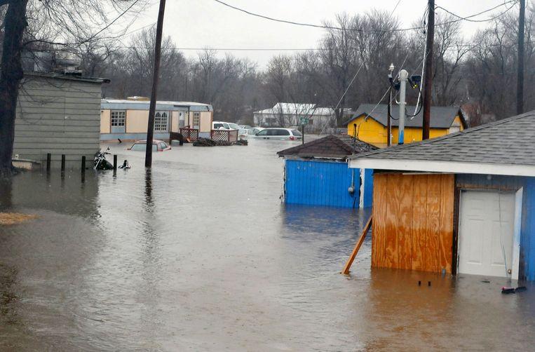 Overstroming in Kendricktown, Missouri. Beeld ap