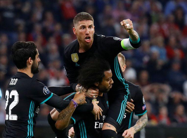 Sergio Ramos voert met Marcelo, die trefzeker was in de heenmatch.