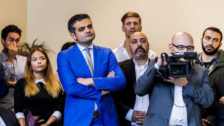 Denk-leider Tunahan Kuzu bij de lancering van het eerste Denk-raadslid in Alkmaar. Beeld anp