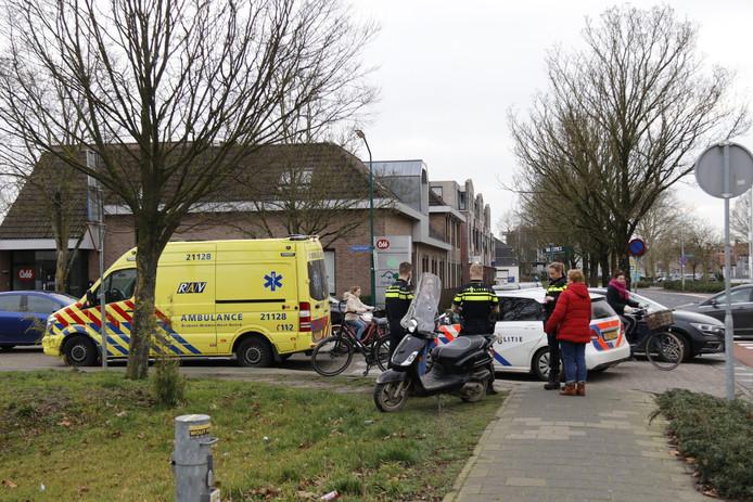 De scooterrijder raakte gewond in Boxmeer.