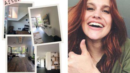 """BINNENKIJKEN. K3'tje Hanne toont trots haar nieuwe huis: """"Jaar vol verbouwingswerken"""""""