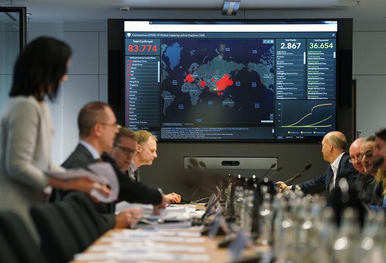 Bedrijven nemen maatregelen tegen het nieuwe  coronavirus  Beeld Getty Images