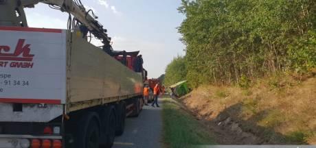 Veel gewonden bij busongeluk Noord-Duitsland