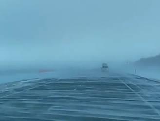 VIDEO. Fargo in het echt: sneeuw creëert creepy effect