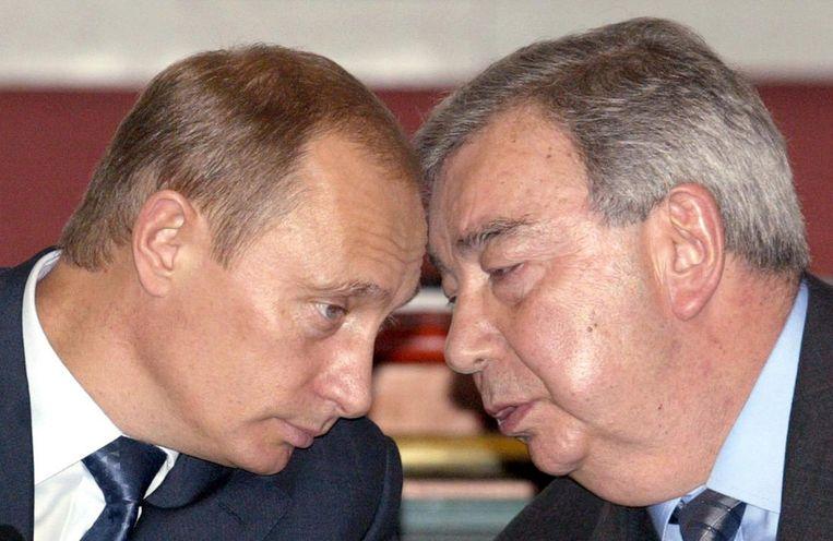 Met de huidige president Vladimir Poetin.