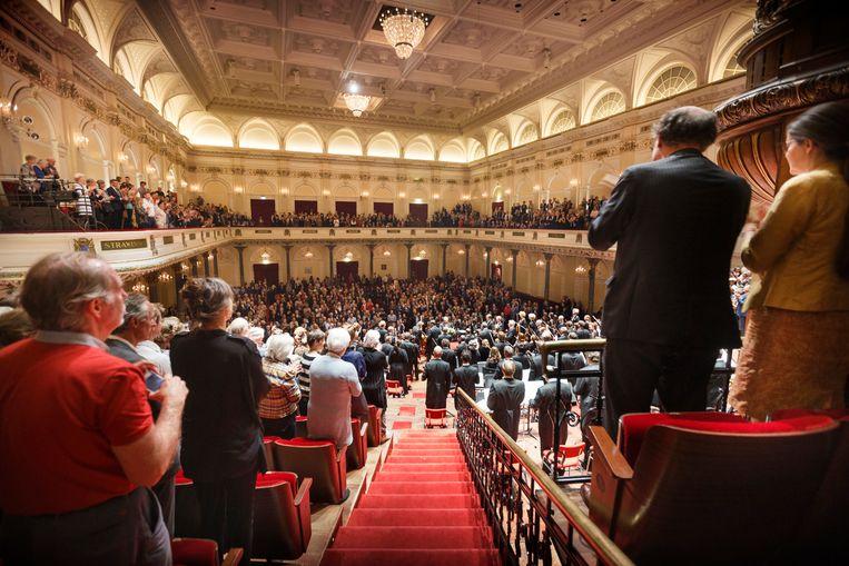 Het Koninklijk Concertgebouworkest in de grote zaal. Beeld Hans Roggen