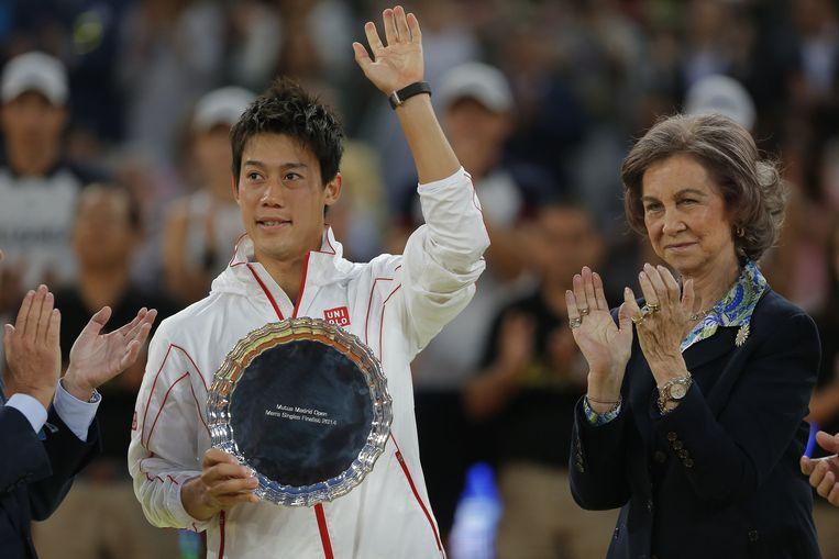 De Japanner Kei Nishikori houdt aan zijn verloren finale in Madrid een plaats in de top-10 over.