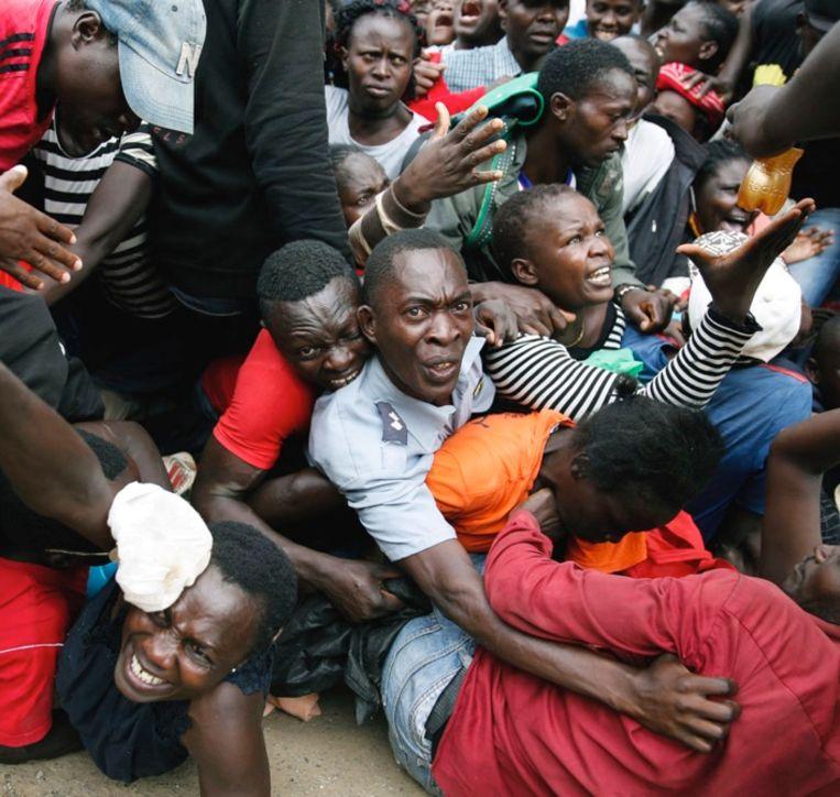In Kenia vochten de mensen al om voedsel. Beeld AP