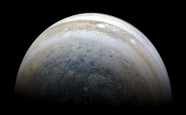 De zuidkant van Jupiter. Beeld null
