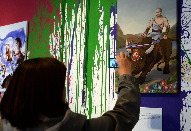 Schilderij Met Eigen Foto.Poetin Grote Afwezige Op Eigen Verjaardag Foto Ad Nl