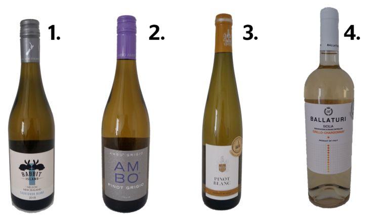 1. Rabbit Island 2. Ambo 3. Pinot Blanc 4. Ballaturi