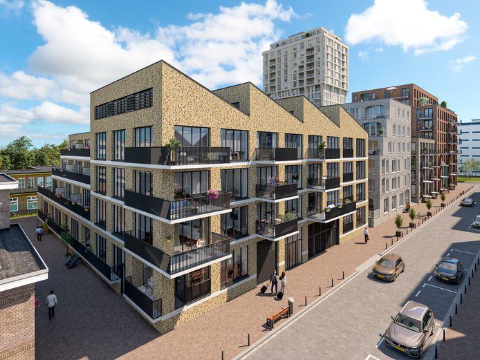 Het gebouw Benjamin (aan de Ir. Kalffstraat) van S-West op Strijp-S in Eindhoven is al in de verkoop gegaan.