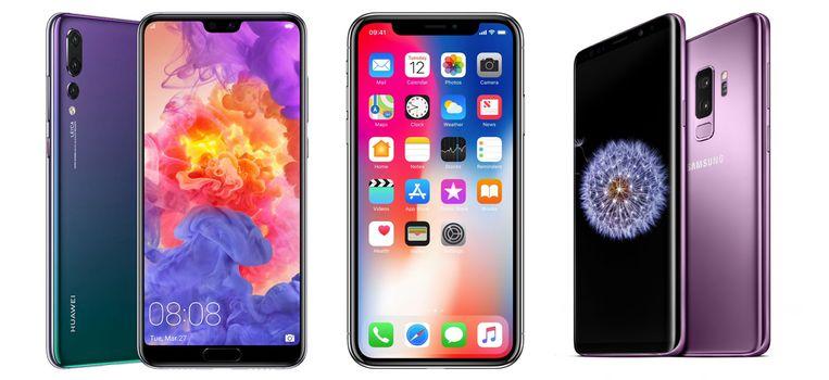 Apple en Samsung krijgen steeds duchtiger concurrentie in het high-end smartphone segment