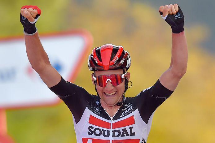 Déjà à l'attaque à plusieurs reprises depuis le départ de la Vuelta, Tim Wellens offre à la Belgique sa première victoire sur l'édition 2020.