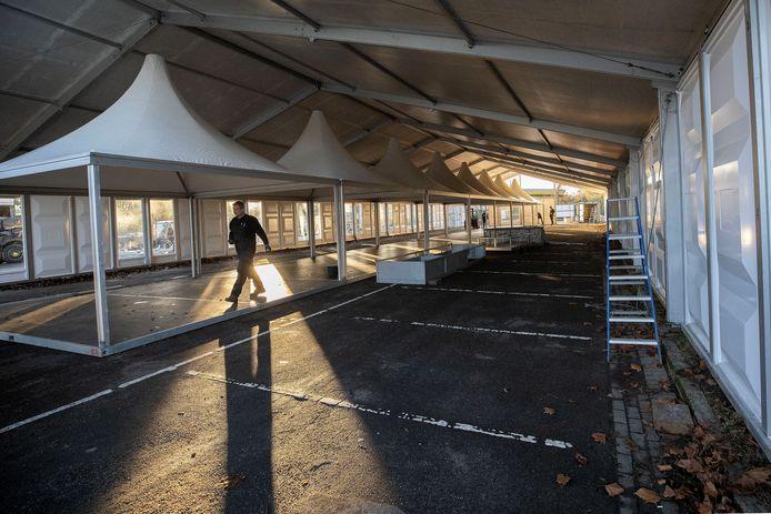 Opbouw van de nieuwe XL testlocatie in Eindhoven. (archieffoto ter illustratie)