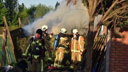 Brandweer bedwingt brand in houtopslagplaats