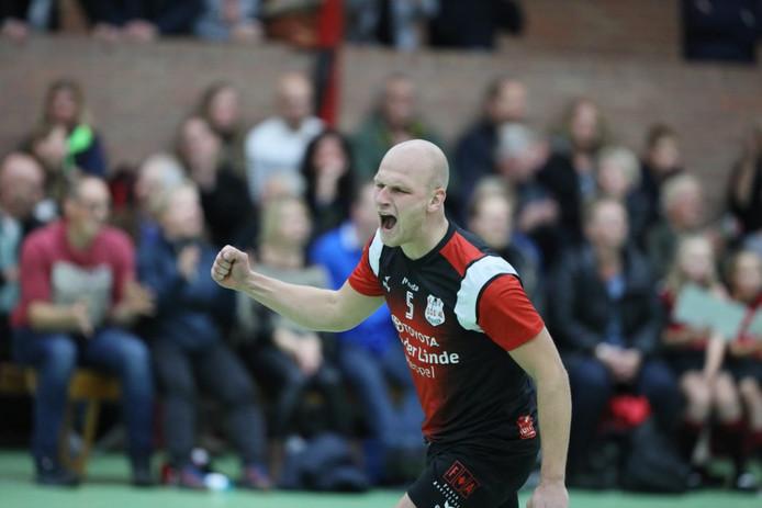 Max Malestein scoorde viermaal, maar dat was niet genoeg om een nederlaag tegen Blauw-Wit te voorkomen.