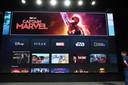 De interface van streamingdienst Disney+