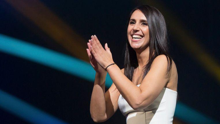 De 32-jarige Oekraïense zangeres Susana Jamaladinova, die onder haar artiestennaam Jamala, gisteravond het nationale Oekraïense songfestival won. Beeld EPA