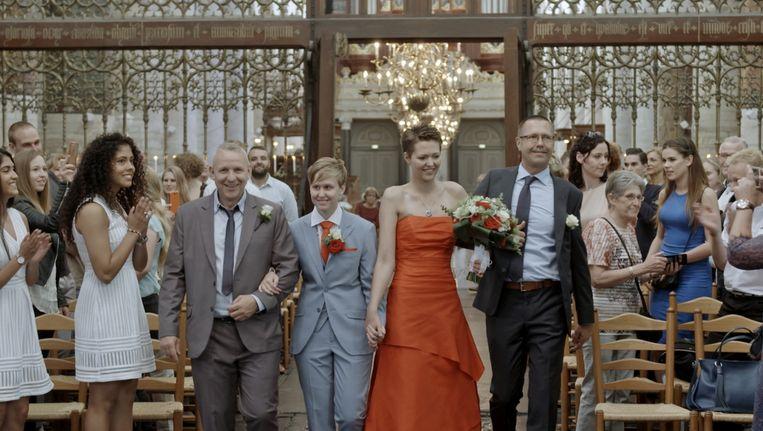Still uit de eerste aflevering van Dit zijn wij: Hoe trouwt Nederland? Beeld