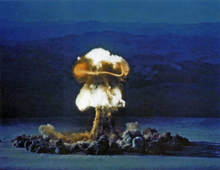 Operatie Plumbbob op 25 juni 1957 in Nevada. Beeld Getty Images