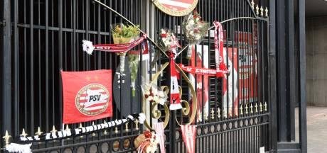 Supporters herdenken PSV-icoon Harry van Raaij op speciale plek bij het Philips Stadion