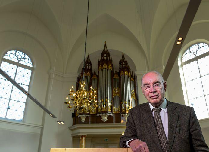 Jan Leppink in 2013 in de Hervormde Kerk in Haaksbergen.