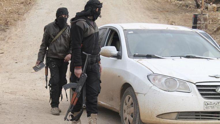 Jihadisten van het al-Nusra Front. Beeld reuters