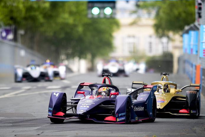 Robin Frijns in actie in het Formula E-kampioenschap.