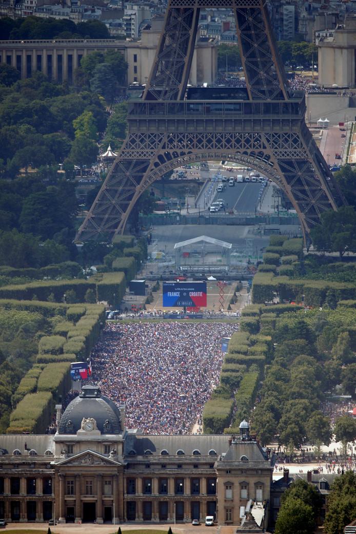 De Fan Zone in Parijs.