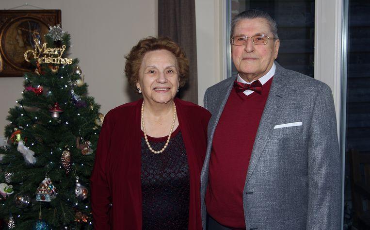Marie-Colette Vanhemelryck en Georges Vermandel vieren hun 60ste huwelijksverjaardag.