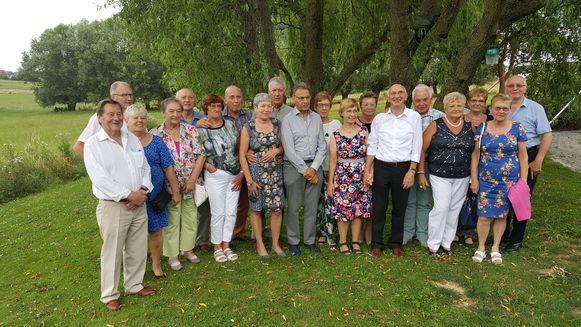 Maurice en Anne-Marie vierden hun gouden bruiloft met familie en vrienden.