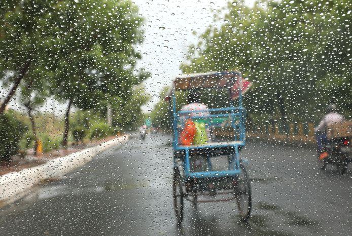 Les fortes tempêtes sont fréquentes pendant la saison de la mousson en Inde, qui va de juin à septembre.