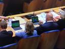 Minister Ferd Grapperhaus en Cora van Nieuwenhuizen waren gisteravond wel erg benieuwd hoe de Nederlandse voetbalclubs het ervan afbrachten in de Europa League.
