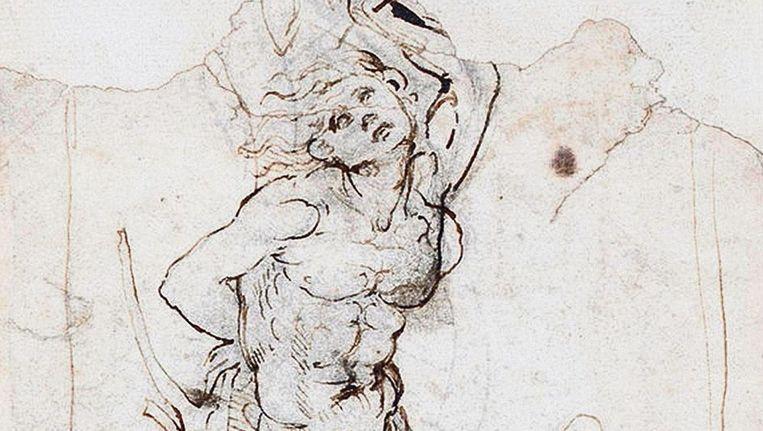De Sint Sebastiaan van de hand van Da Vinci Beeld  Tajan