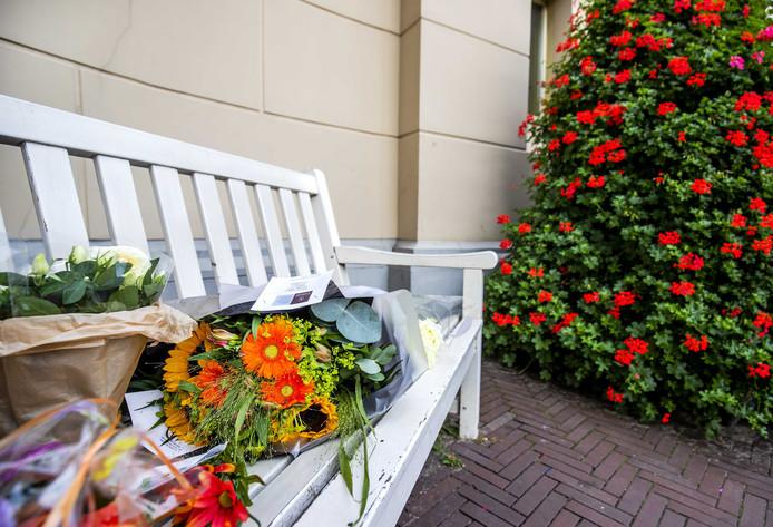 Bloemen voor prinses Christina