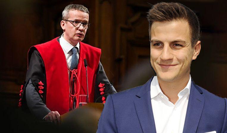 Rector Luc Sels zet de deur op een kier voor Dries Van Langenhove.