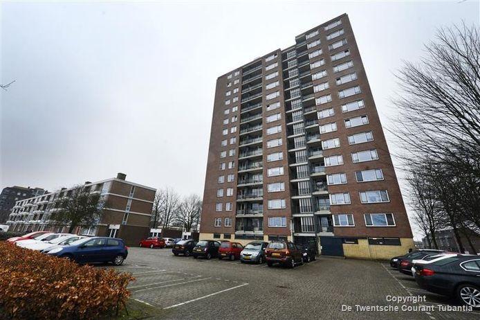 De flat aan de Fazantstraat in Enschede.