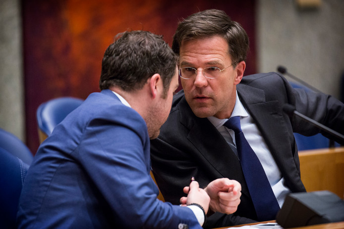 Klaas Dijkhoff en premier Mark Rutte