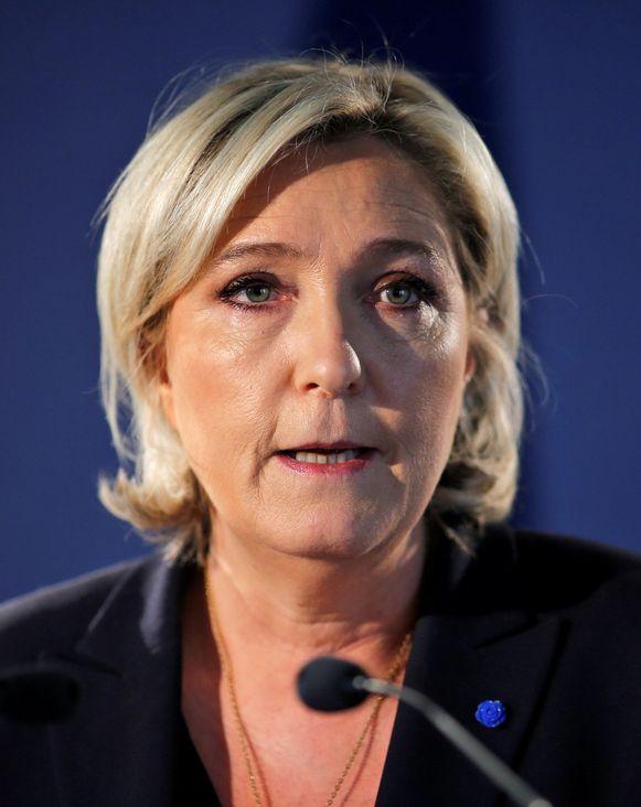 Partijleider van Front National Marine Le Pen.