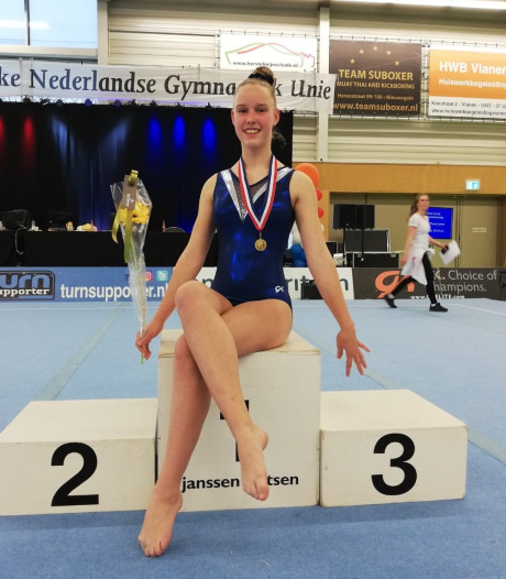 Turnster Esther Beets uit Eck en Wiel pakt nationale titel sprong