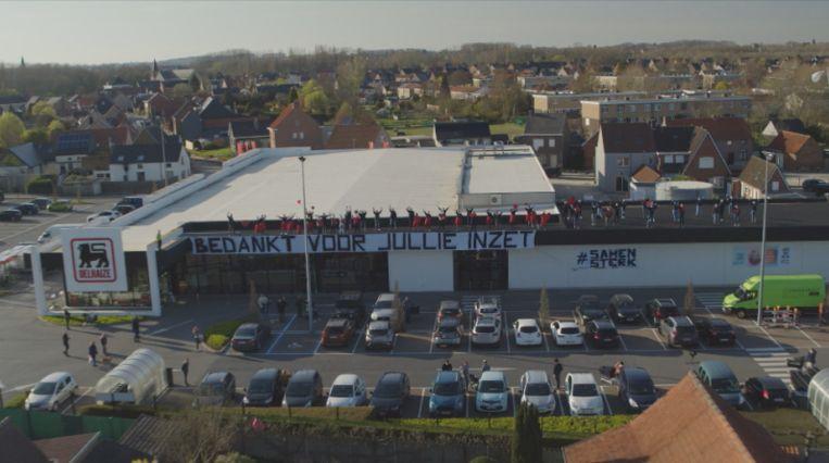 Drone boven Oudenaarde
