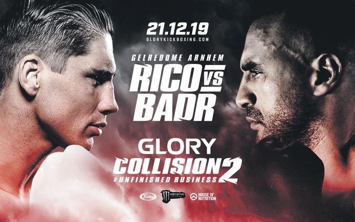 Poster gevecht Rico Verhoeven vs Badr Hari op 21 december 2019 in Arnhem.