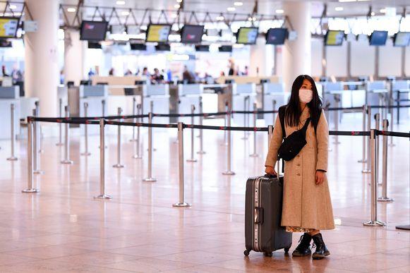 Brussels Airport lijkt deze dagen bijna een spookluchthaven.