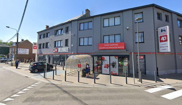 L'incident s'est produit dans le magasin AD Delhaize situé le long de l'avenue de la Gare, à Limal.